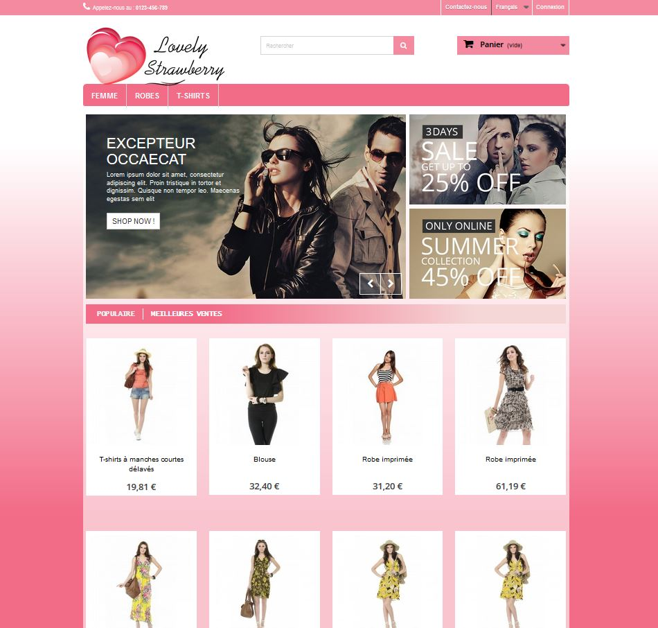 Template prestashop 1.6 Gratuit – Lovely