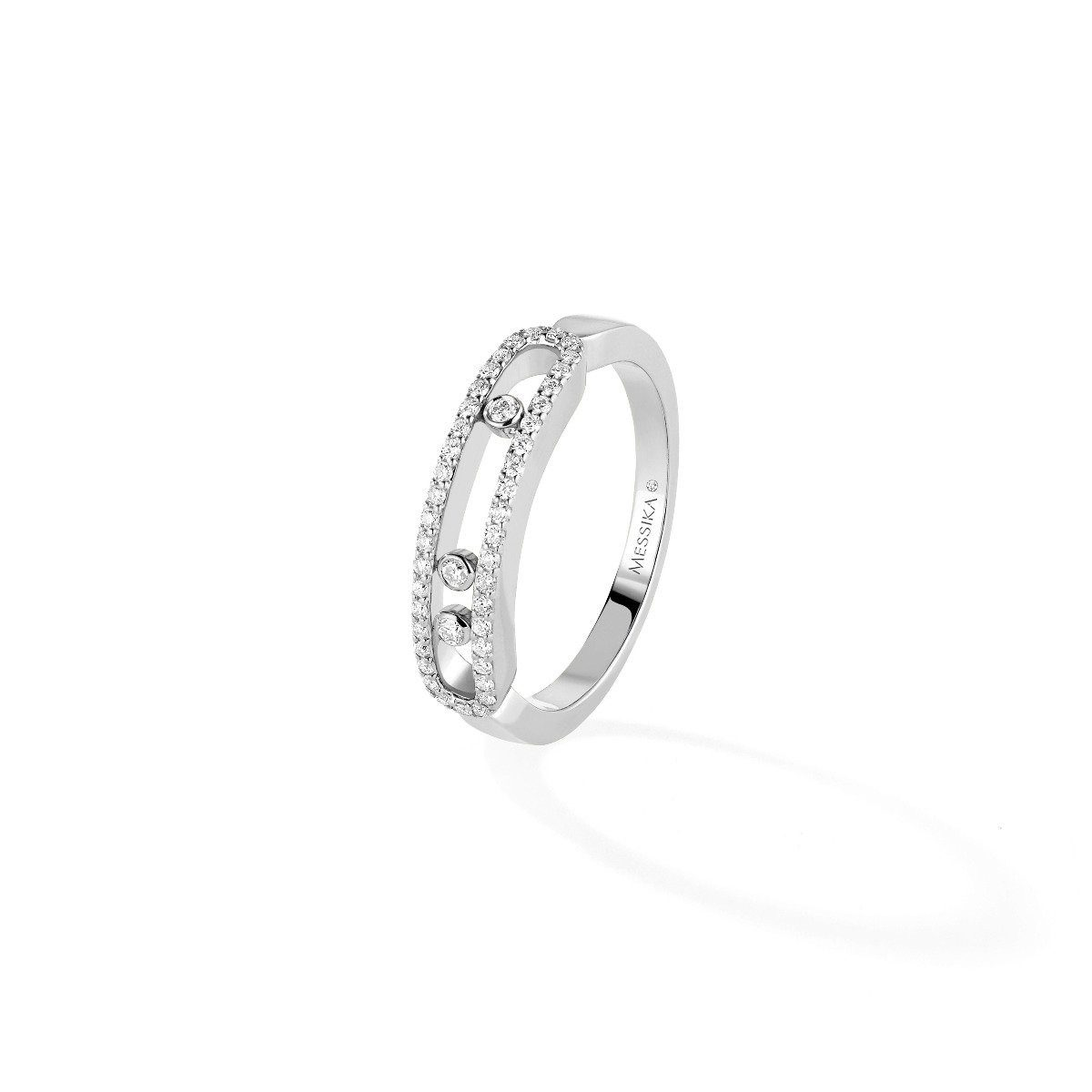 Messika - bague Baby Move - or blanc diamant