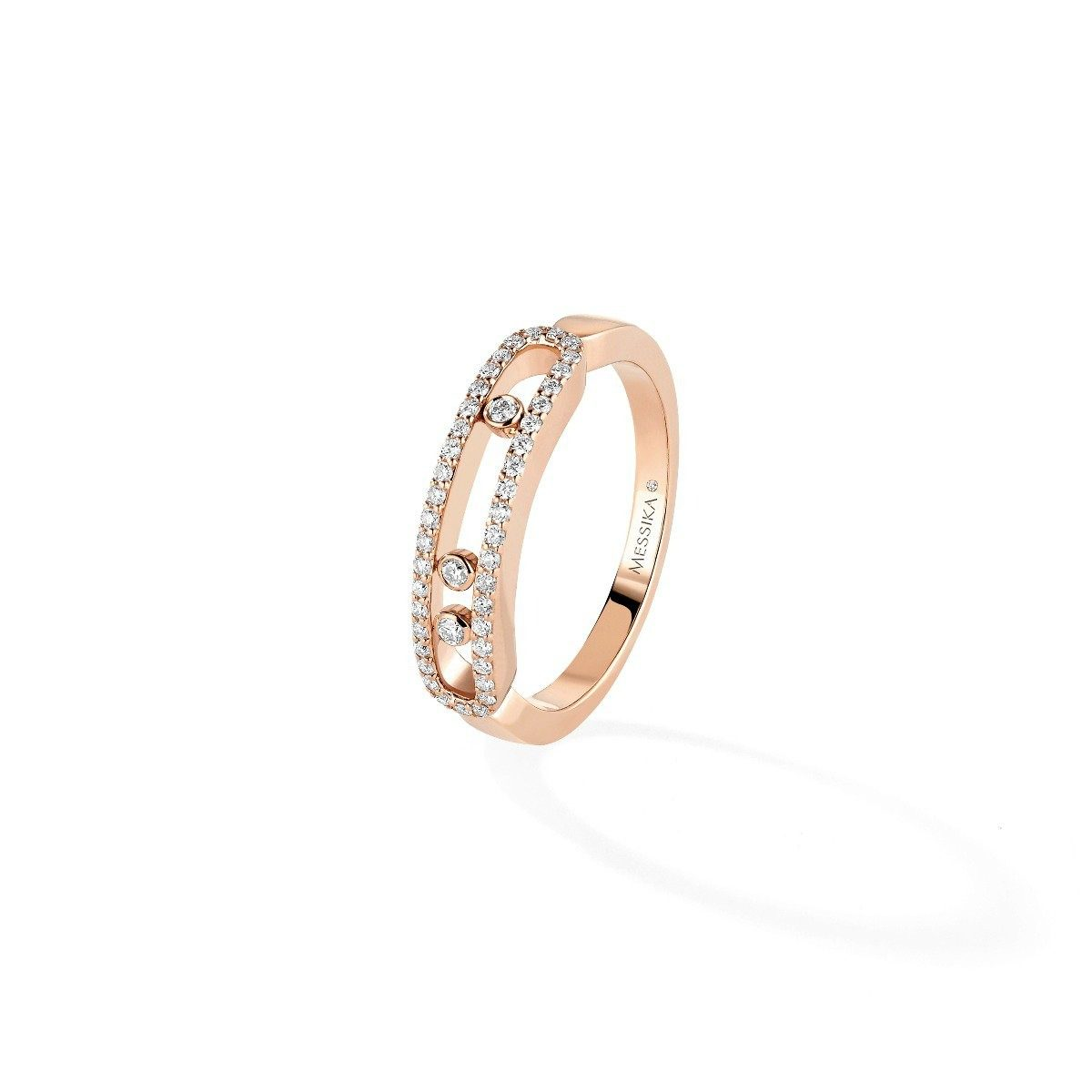 Messika - Baby Move Pavée Bague - Or Rose
