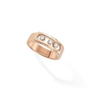 Messika - Bague Move Noa - or rose diamant