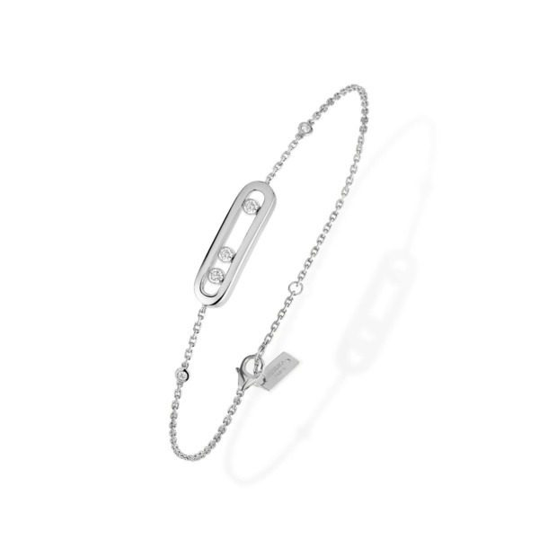Messika - Bracelet Baby Move - or blanc diamant