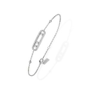 Messika - Bracelet Baby Move Pavé - or blanc diamant