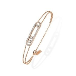 Messika - Bracelet Move Pavé - or rose diamant