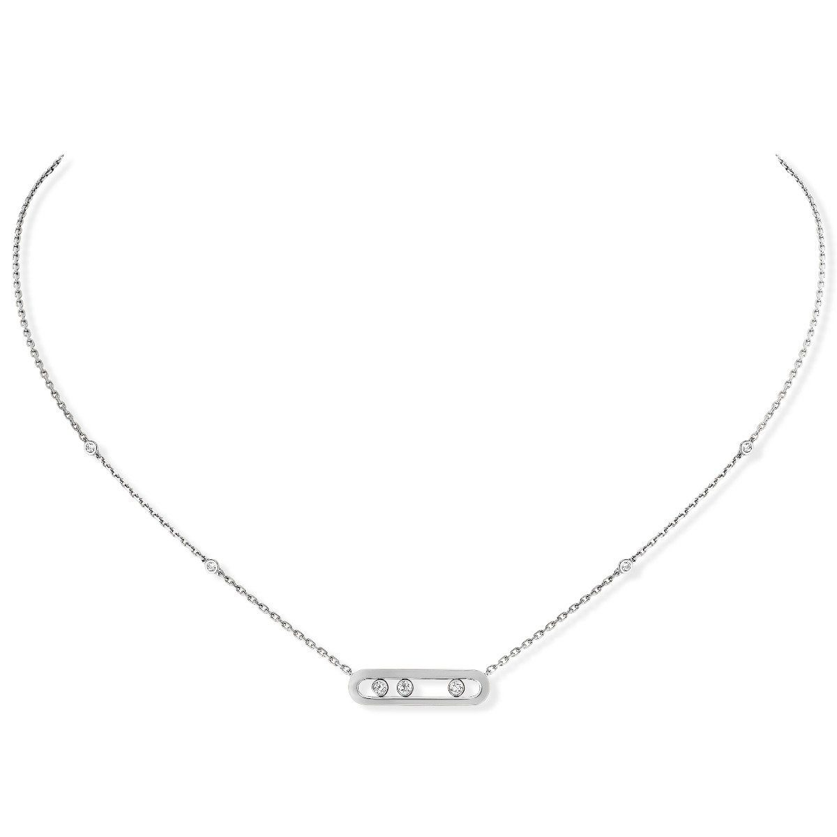 Messika - Collier Baby Move - or blanc diamant