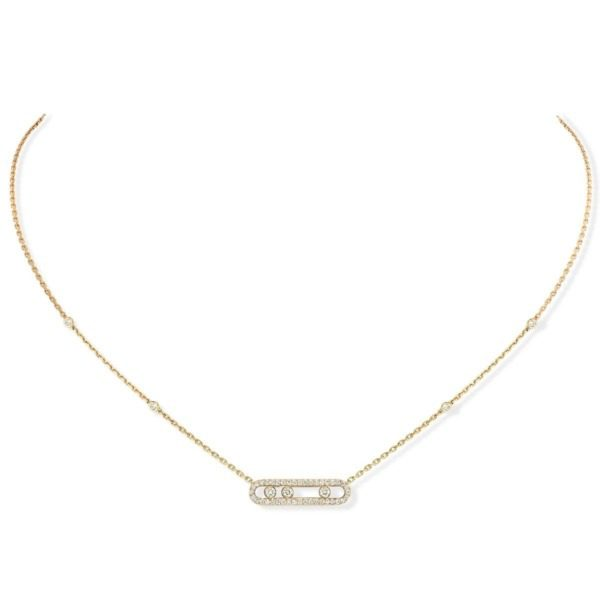 Messika - Collier Baby Move Pavé - or jaune diamant