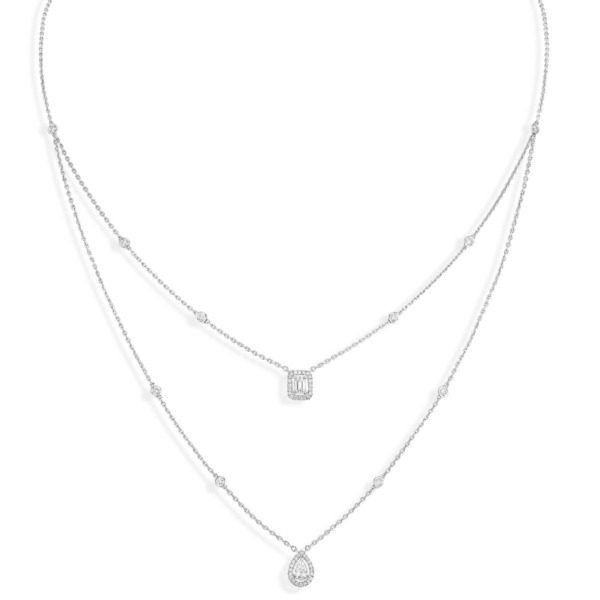 Messika - Collier My Twin 2 rangs - or blanc diamant