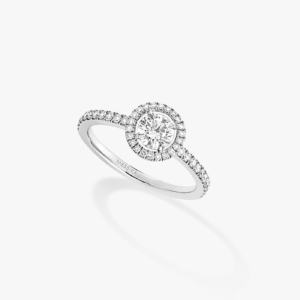 Messika - Bague Joy Diamant rond 045ct - Or blanc - Valer Nice - Joaillerie
