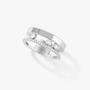 Messika - Bague Move Romane - Or blanc - Valer Nice - Joaillerie