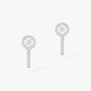 Messika - Boucles oreilles creoles brillant - Or blanc - Valer Nice - Joaillerie