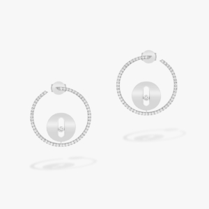 Messika - Boucles oreilles creoles Lucky Move PM - Or blanc - Valer Nice - Joaillerie