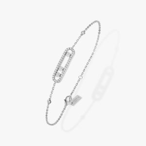 Messika - Bracelet Baby Move Pave - Or blanc - Valer Nice - Joaillerie