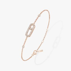 Messika - Bracelet Move Uno Pave - Or rose - Valer Nice - Joaillerie