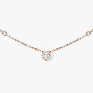 Messika - Collier Joy XS - Or rose - Valer Nice - Joaillerie