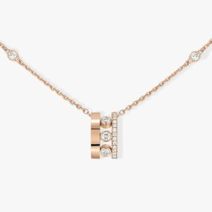 Messika - Collier Pendentif Move Romane - Or rose - Valer Nice - Joaillerie