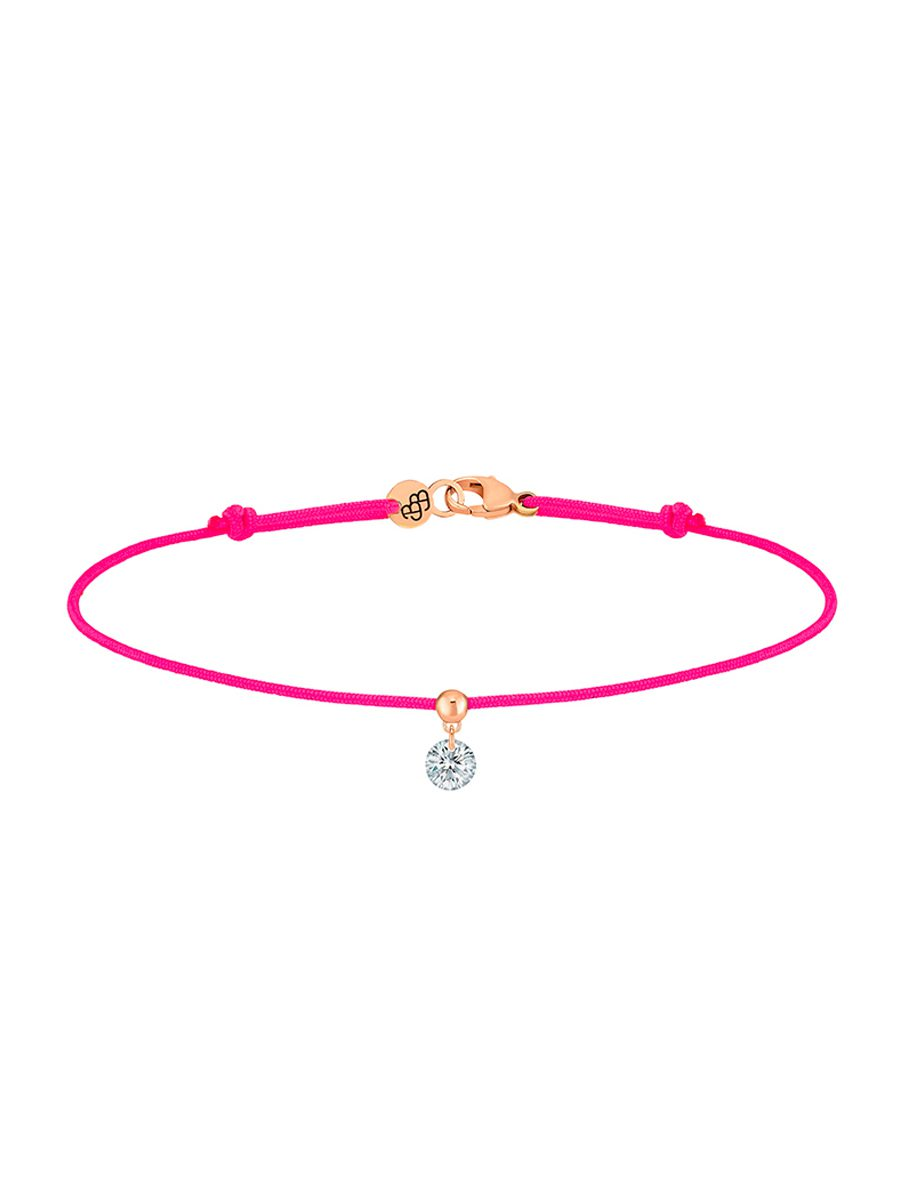 La Brune & la Blonde - Bracelet cordon diamant or rose - Valer - Bijouterie