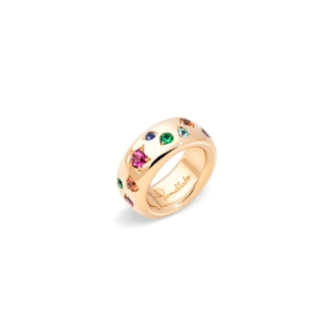Classic-iconica-colour-ring-rose-gold-18kt-red-tourmaline-orange-sapphire-blue-sapphire-spinel-tanzanita-ruby - Valer, votre bijoutier à Nice
