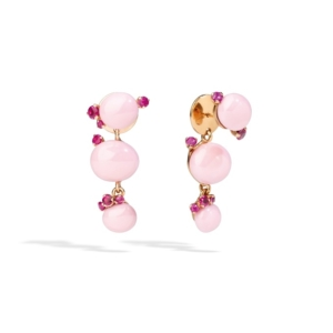 Earrings-capri-rose-gold-18kt-pink-ceramic-ruby - Valer, votre bijouterie à Nice