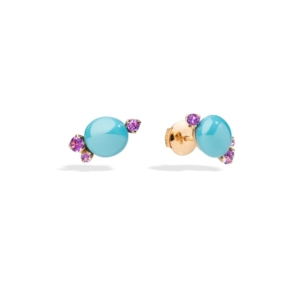 Earrings-capri-studs-rose-gold-18kt-amethyst - Valer, votre bijouterie à Nice