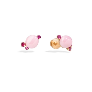 Earrings-capri-studs-rose-gold-18kt-pink-ceramic-ruby - Valer, votre bijouterie à Nice