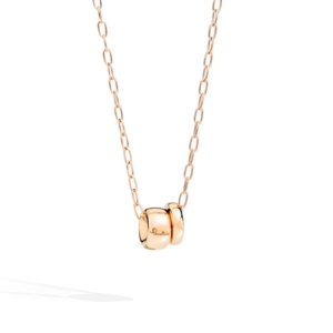 Pendant-with-chain-iconica-rose-gold-18kt - Valer, votre bijouterie à Nice