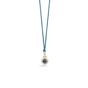 Pendant-without-chain-m'ama-non-m'ama-rose-gold-18kt-blue-london-topaz-diamond - Valer, votre bijouterie à Nice