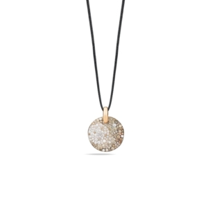 Pendant-without-chain-sabbia-rose-gold-18kt-diamond-brown-diamond - Valer, votre bijouterie à Nice