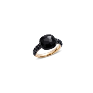 Ring-capri-rose-gold-18kt-onyx-treated-black-diamond - Valer, votre bijoutier à Nice