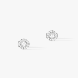 Messika - Boucles oreilles Joy PM - Or blanc - Valer Nice - Joaillerie