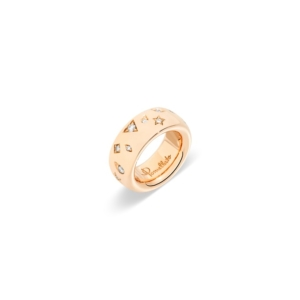 ring-iconica-large-rose-gold-18kt-diamond - Valer, votre bijoutier à Nice