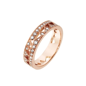 Ring-in-pink gold full-set-with-white-diamonds-Collection-Capture-Me - Valer, votre bijouterie à Nice